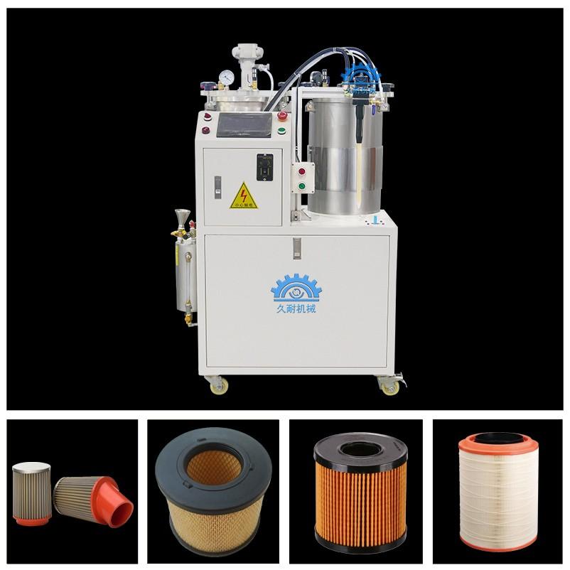 双液灌胶机 圆形过滤器半自动灌胶机 双组份ab硅胶灌胶机