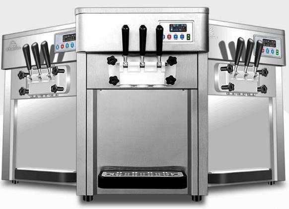 冰激凌机器报价和实图 冰激凌机全自动