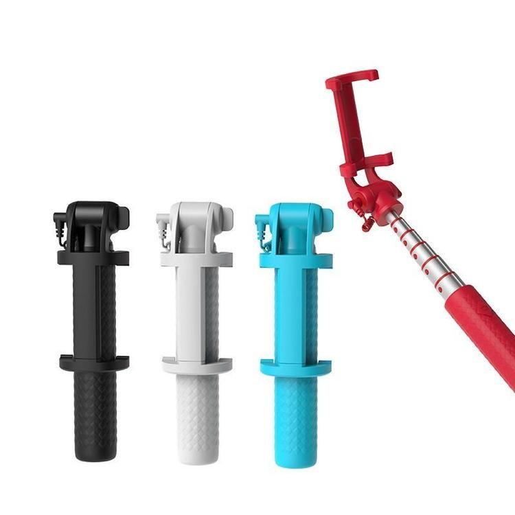 厂家批发便携线控自拍杆 便携线控自拍杆价格