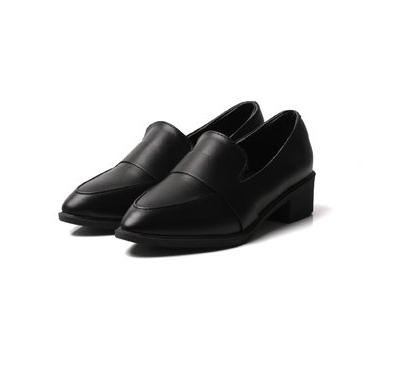 黑色中跟皮鞋女批发价格 黑色中跟皮鞋女厂家直销