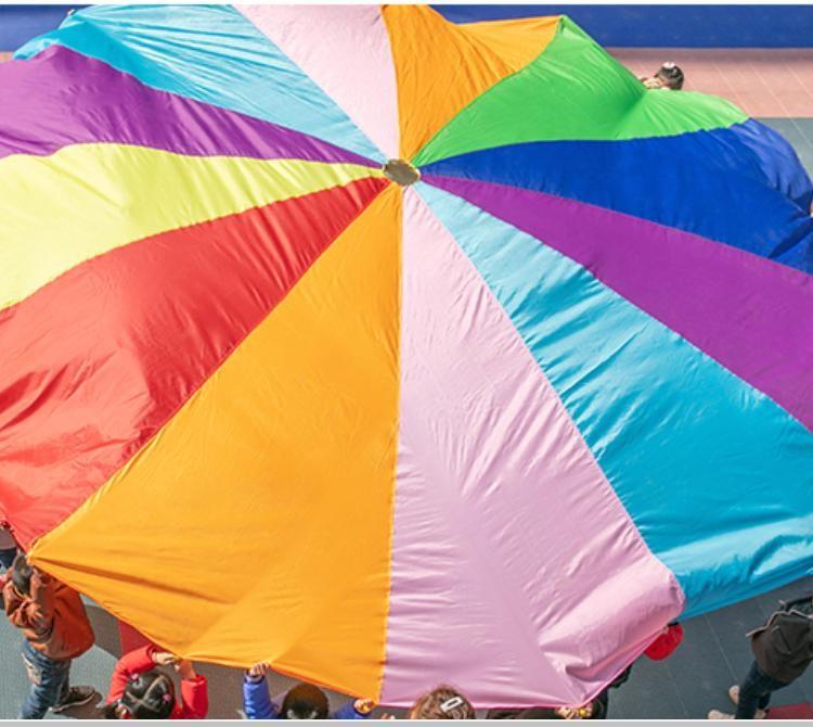 亲子玩具彩虹伞厂家直销 亲子玩具彩虹伞批发价格