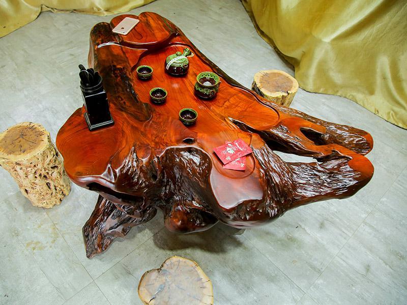 鸡翅木根雕茶台价格 鸡翅木根雕茶台图片