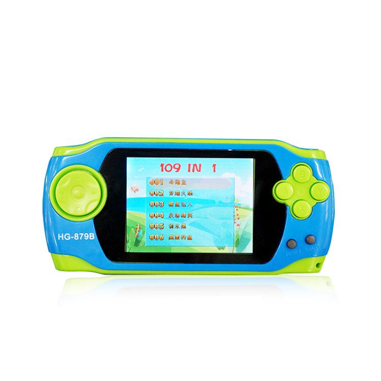 包邮终结者儿童游戏机掌机彩屏益智掌上游戏机大屏可充电109合一