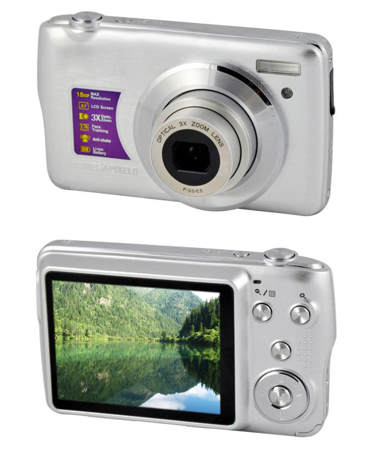 【厂家供应】超低价1600万像素,三倍光学变焦,申缩镜头数码相机.