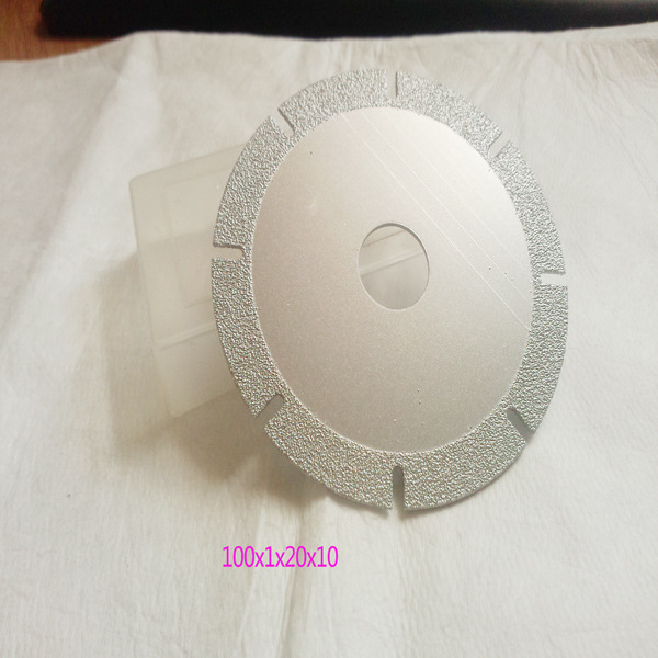 苏南 厂家供应钎焊金刚石切片100x10mm U形加宽 钎焊玻璃切片