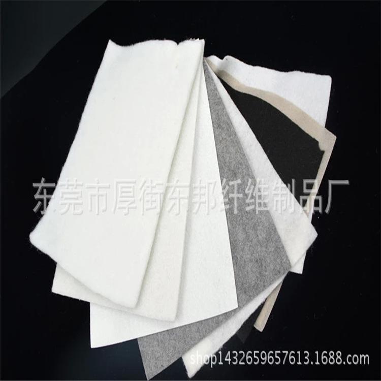 厂家生产直销涤纶纤维针刺棉 热轧针棉 烫光针刺棉 增白针棉