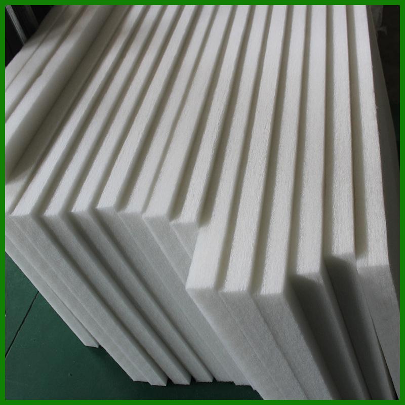 聚酯纤维环保吸音棉5cm高密度白色硬质棉室内装修墙体消音棉