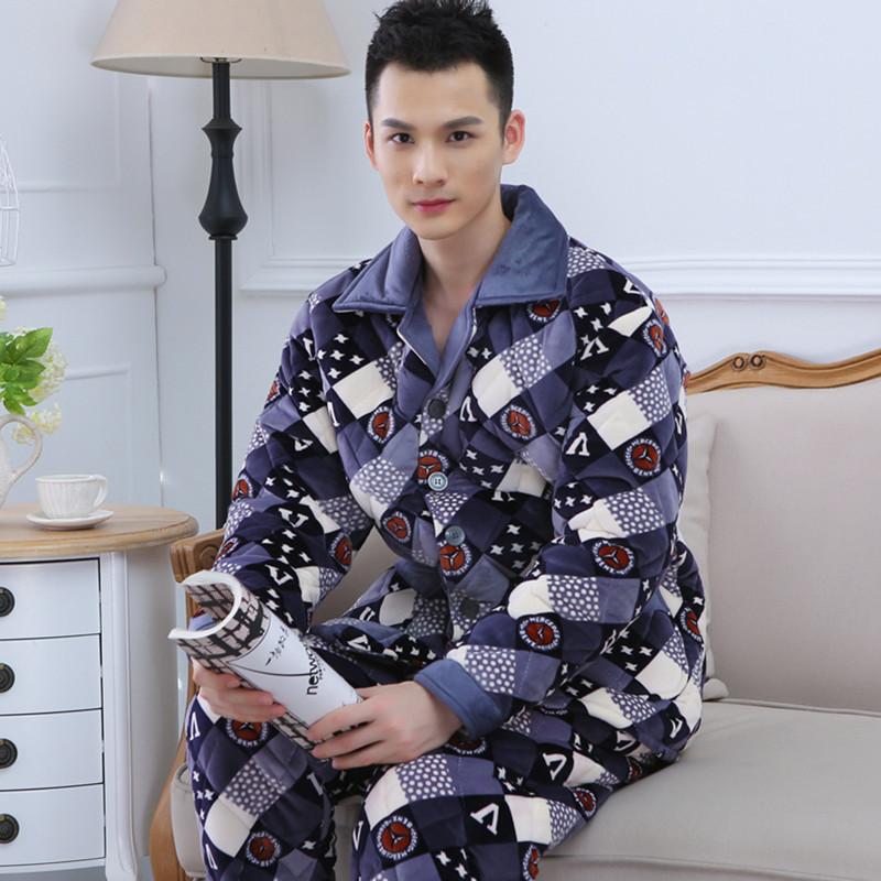 冬季男士睡衣加绒加厚 厂家直供冬季男士睡衣加绒加厚