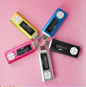 MP3U盘式 有屏MP3炫彩 USB直插式MP3 口香糖式MP3