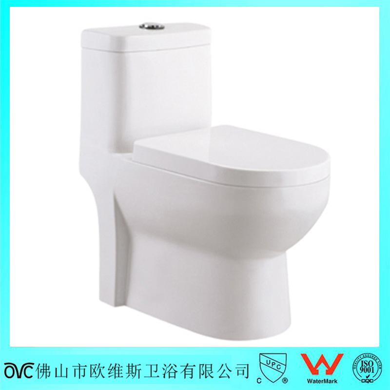欧维斯卫浴 2016新款陶瓷坐便器 连体式直冲卫浴洁具广东厂家直销