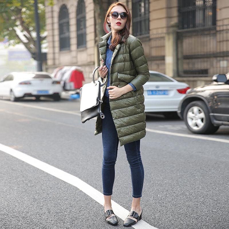 2016流行风欧美羽绒服冬季新款长款女士羽绒服外套白鸭绒批发
