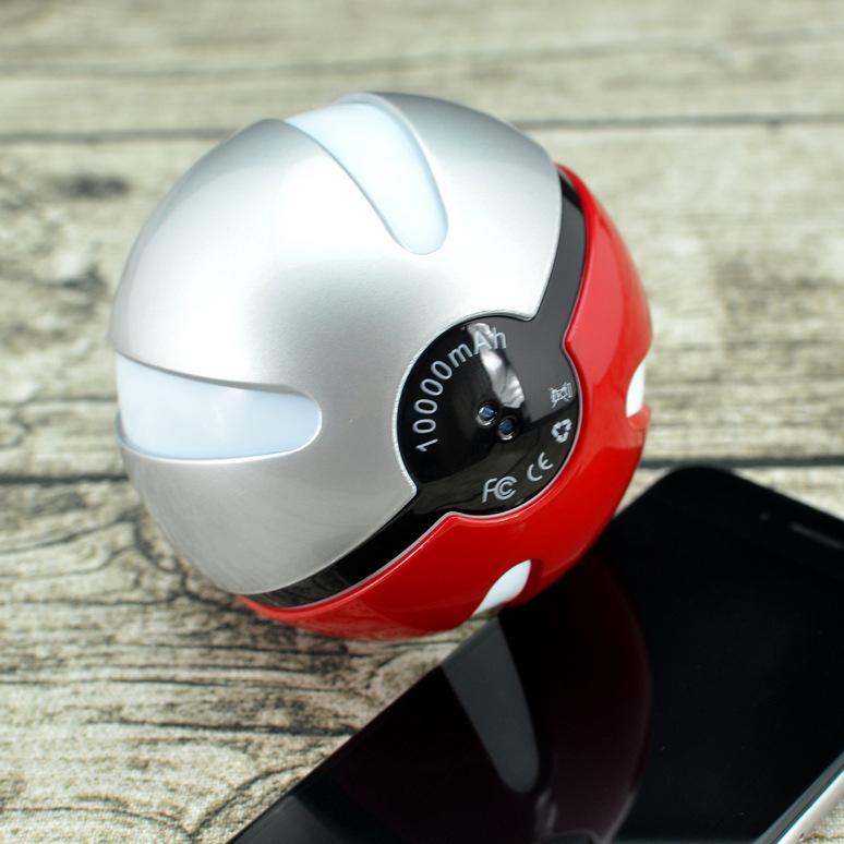 新款神奇卡通精灵球一代移动电源口袋球充电宝通用型可爱口袋妖怪