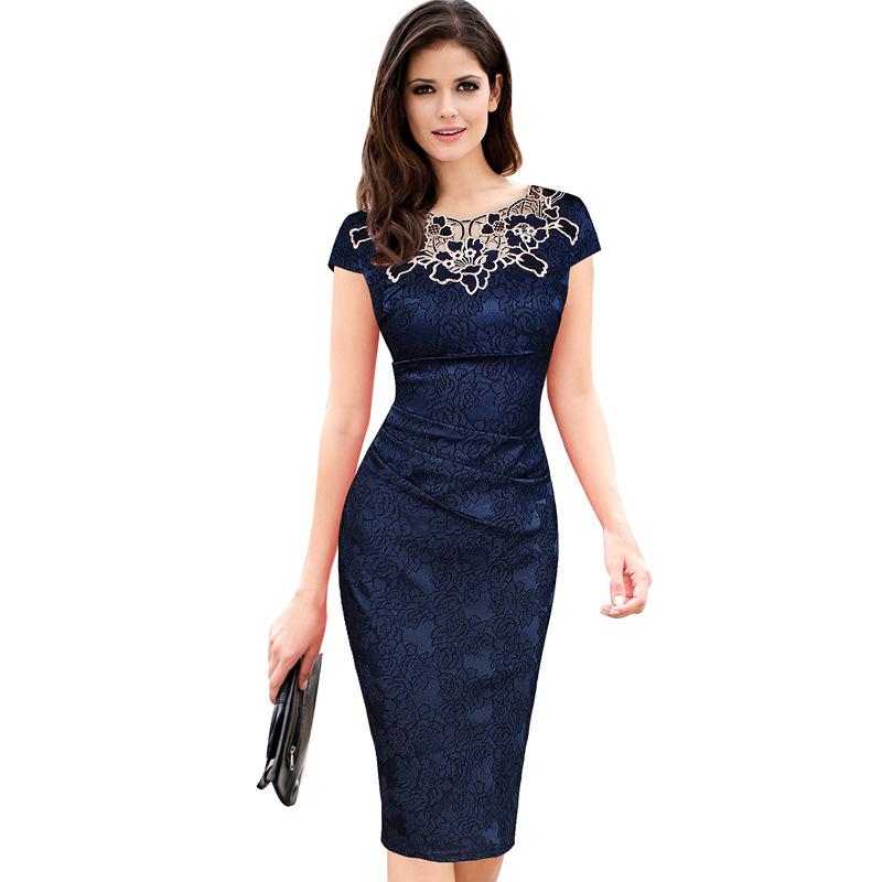 玫瑰贴花蕾丝拼接连衣裙厂家直销 玫瑰贴花蕾丝拼接连衣裙批发