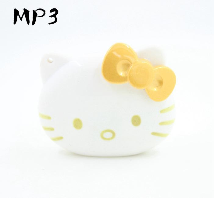 亏本特价MP3播放器/Kitty猫头mp3/可爱韩版MP3/插卡MP3